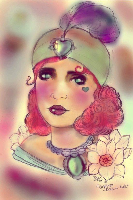 """Empress Rock-A-Hula"" Art Print"