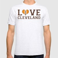LUV Cleveland Mens Fitted Tee Ash Grey SMALL