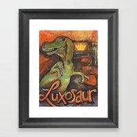 Luxasaur Framed Art Print