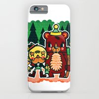 iPhone & iPod Case featuring Lumberjack and Friend by chobopop