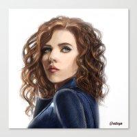 Black Widow....Avengers....Marvel.... Canvas Print