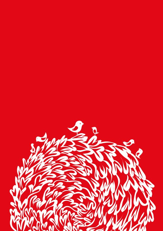 Red Birds Art Print