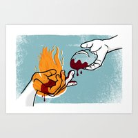 Satan Possesses Judas (by Shed Labs) Art Print