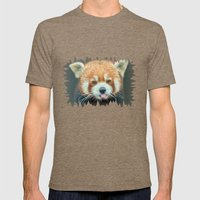 PANDA-RING TO ONE'S TASTE Mens Fitted Tee Tri-Coffee SMALL