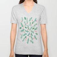 Christmas Foliage Unisex V-Neck