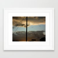 Through The Clouds Framed Art Print