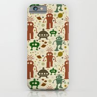 iPhone & iPod Case featuring Robot Invasion! by Susan Weller