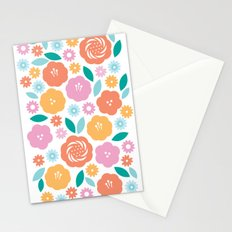 Cheerful Florals Stationery Cards