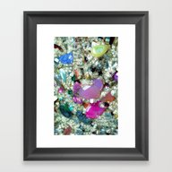 Framed Art Print featuring Bling, Bling, Bling, Bli… by Joke Vermeer