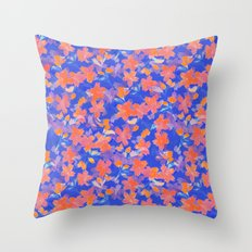 Japanese Garden: Blossoms LT Throw Pillow