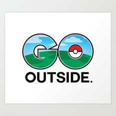 PokemonGO Outside Art Print