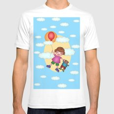 Above The Clouds Mens Fitted Tee White SMALL