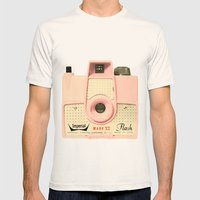 Think Pink Mens Fitted Tee Natural SMALL