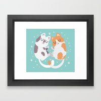 Kitty Cuddles Framed Art Print