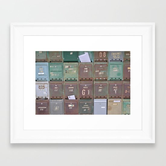 Mailboxes I Framed Art Print
