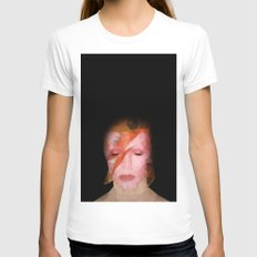 bowie Womens Fitted Tee White SMALL