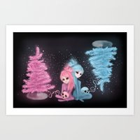 Intercosmic Christmas Art Print