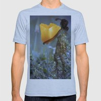 Flower Fairies Mens Fitted Tee Athletic Blue SMALL