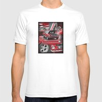 1966 Mustang  Mens Fitted Tee White SMALL