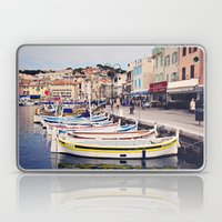 Boats In Cassis Harbor Laptop & iPad Skin