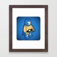 BLUE DEMON Framed Art Print