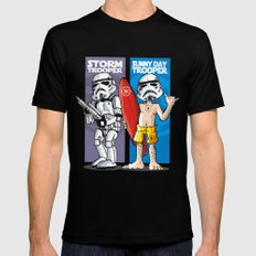 Storm and Sunny Day Trooper Mens Fitted Tee Black SMALL