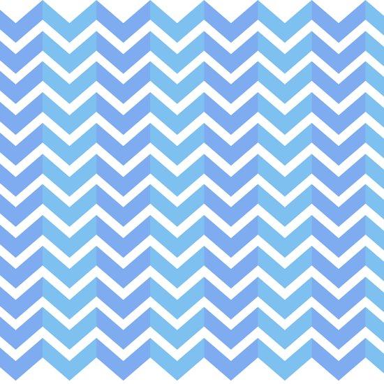Blue Chevron Pattern Art Print