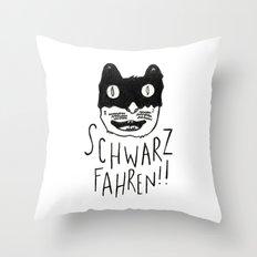 Schwarzfahren!! Throw Pillow
