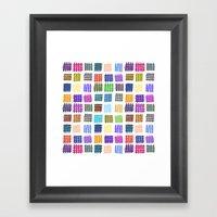 Marker Hash Framed Art Print