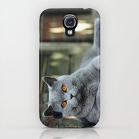 Galaxy S4 Cases featuring Diesel the cat ! by teddynash