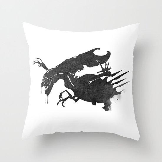 The Queen Alien Throw Pillow