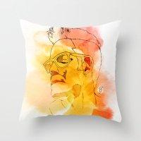 B' Throw Pillow