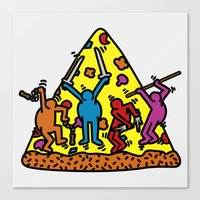 Keith Haring & Turtle Canvas Print