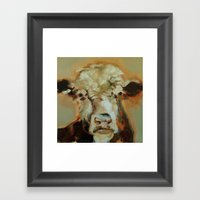 Hereford Cow Framed Art Print