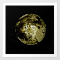 Art Print featuring Ghostly Moon by Annie Zeno