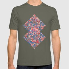 colorful Triangles 1 Mens Fitted Tee Lieutenant SMALL