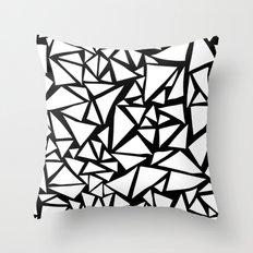 Monochrome Triangle Patt… Throw Pillow
