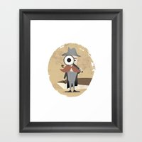 Mr. Detective Framed Art Print