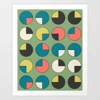 Pie Green Art Print