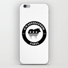Unaffiliated Party Badge iPhone & iPod Skin
