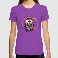 The Owl Womens Fitted Tee Ultraviolet SMALL