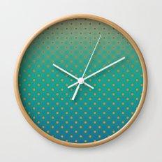 Polka Plankton Blue Wall Clock