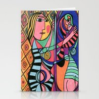 Lady in the Mirror Stationery Cards