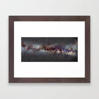 The Milky Way from Scorpio Antares and Sagitarius to North America Nebula in Cygnus Framed Art Print