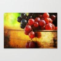 Autumn Grapes Canvas Print