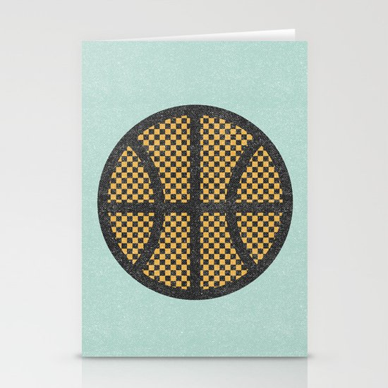 Op Art Basketball. Stationery Card
