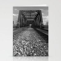Train Bridge 2 - B&W Stationery Cards