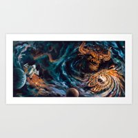 Milking The Stars - Monster Magnet full album cover panorama Art Print