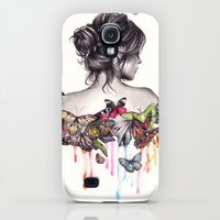 Galaxy S4 Cases featuring Butterfly Effect by KatePowellArt