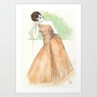 'Gillian' Watercolor Fas… Art Print